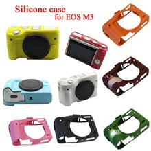Buy 11 PCS/lot Nice Soft Silicone Rubber Camera Body Cover Case Skin Camera case bag Canon EOS M3 EOSM3 Leather Case Bag for $57.80 in AliExpress store