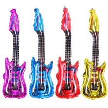 Guitar balloons inflatable air globos party supplies Baby Kids Toys Party Wedding Birthday Supplies Home Decoration 50(China)