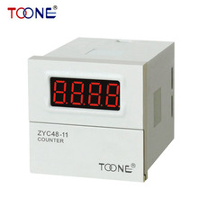 ZYC48-11 Preset Counting Relay for Digital LED Display AC220V DC24V Electronic counter relay counter with memory DH48J ZYC48-11(China)