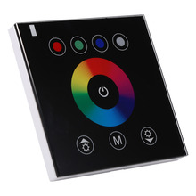 12-24V LED Touch Panel 4 Channels RGBW LED Light Controller Dimmer Wall-mounted Touch Switch Panel 2 Colors Optional