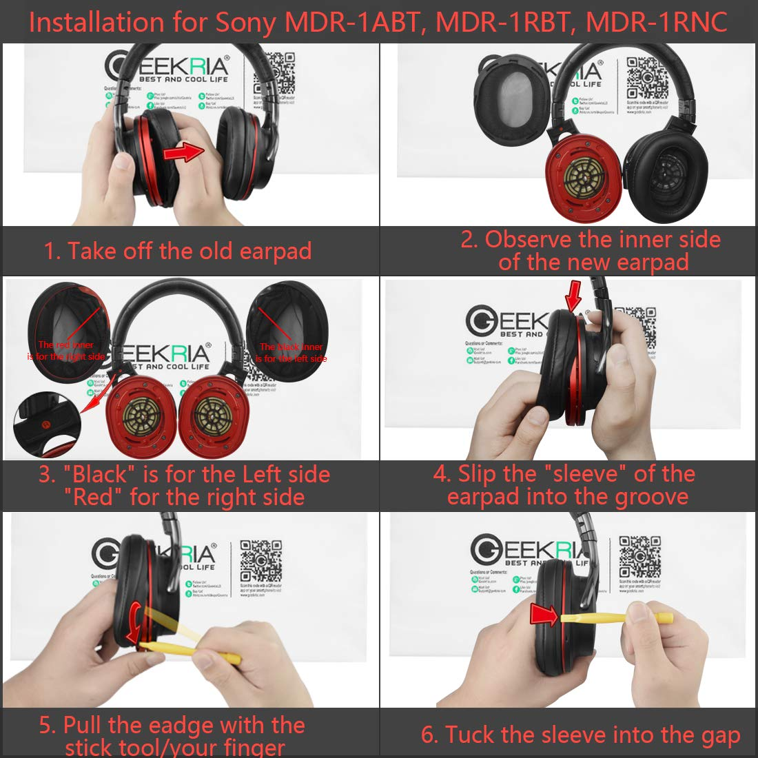 Ear Pads Replacement for SONY MDR 1R 1RMK2 1RBT 1ADAC MDR-1A 1ABT Headphone