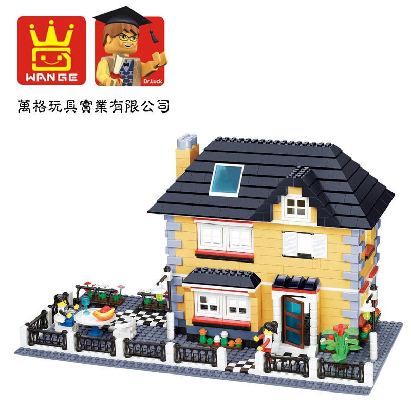 Model building kits compatible with lego City girl friends Villa 3D blocks Educational model building toys hobbies for children<br>
