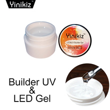 Yinikiz Pink Clear White Uv Builder Gel Hard Nail Extensions Salon False Formulated Tips UV Gel Nail Art(China)