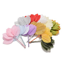 10pcs/pack New Approx 5*3 cm Artificial leaves high simulation nylon stocking flower leaves decoration(China)
