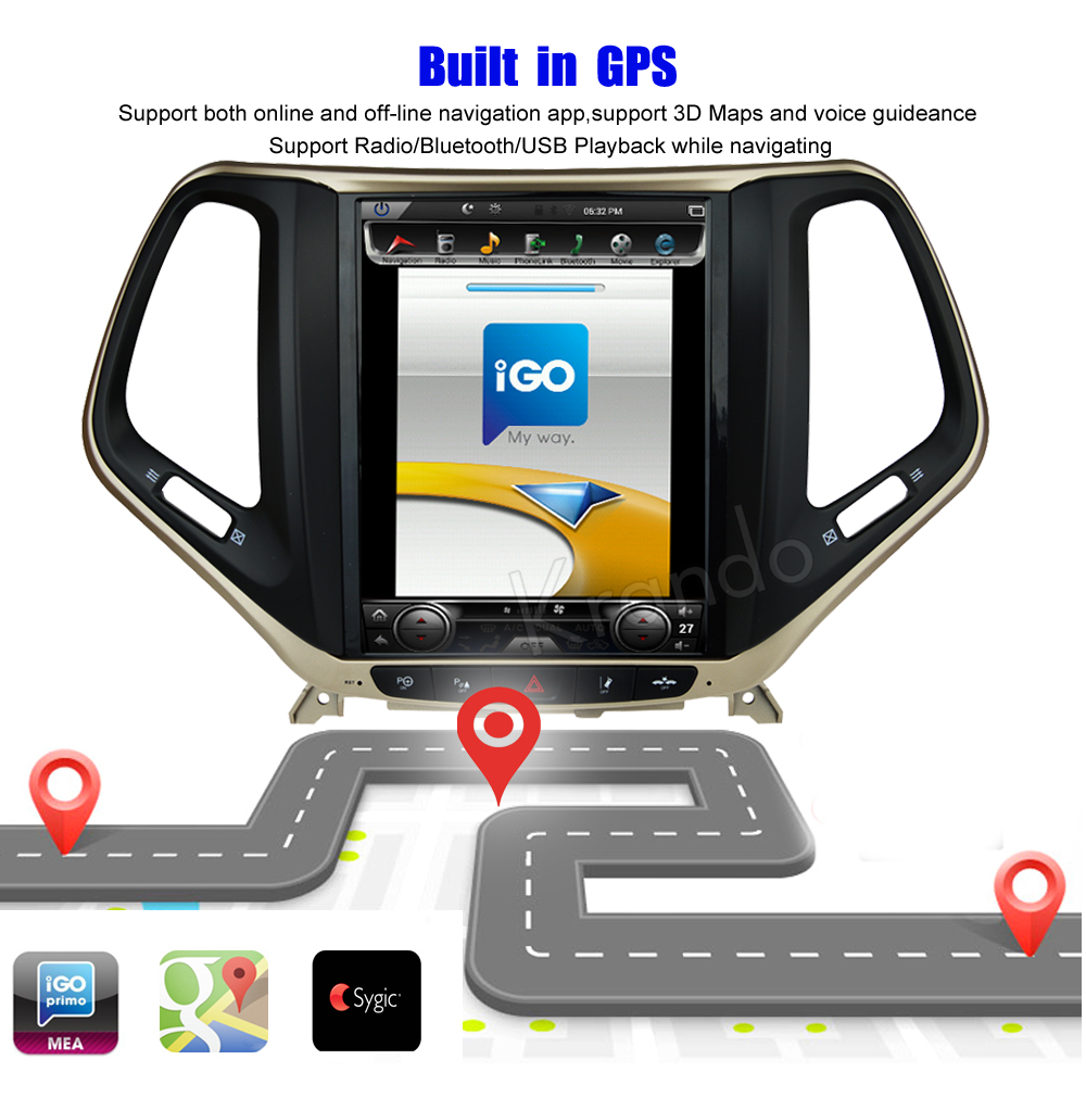 Krando Vertical screen android car radio multimedia for jeep cherokee big screen navigation with gps system (1)