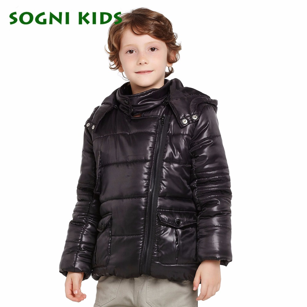 SOGNI KIDS Christmas Boys Winter Coat Brand Children Clothes for Boys Cotton-jacket Coat Long Sleeves Warm Hooded Boys Parkas <br>