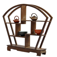 Shelf antique mahogany fan frame wenge wood crafts ornaments Dubbo aircraft factory outlets