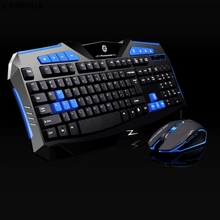Mouse NOT russian keyboard Gaming 2.4G wireless keyboard and Mouse Set to computer Multimedia Gamer wholesale(China)