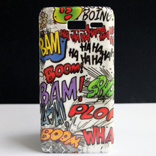 HAHA Bam Boom Graffiti Design Hard Back Protective Skin Cover Case For Motorola Moto Droid RAZR i XT890 Coque Funda Capa(China)