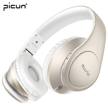 Picun P7 Bluetooth 4.0 Headphones Wireless Headset Stereo Studio with Mic Earphone Over Ear for Game Computer Cell Phone