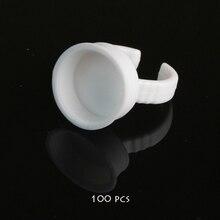 100 шт. нет сепаратор перманентный макияж легкий кольцо чернила контейнер для подачи чернил кольцо чашки для татуировки(China)