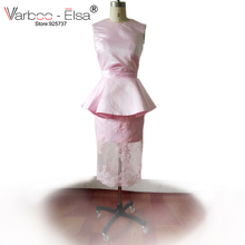 VARBOO_ELSA Real Sample Photo 2015 myriam fares evening dress short prom dress champange satin sheath short Ivory evening dress