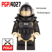 Single Sale PGPJ4027 World War Anti-explosion clothing Future Weapons SWAT Building Blocks Kids Toys Gifts Only The Armor(China)