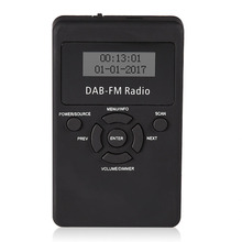1pc Portable Pocket DAB/DAB+/FM Radio Professional LCD Digital Display DAB Receiver + Earphone Kits Mayitr(Hong Kong,China)