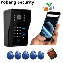 Yobang Security  Apartment WiFi Door bell video door phone Wireless videoIntercom Doorbell with motion detection   door camera