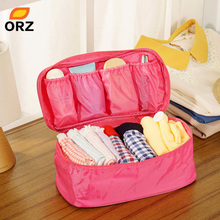 ORZ Bra Underwear Lingerie Travel Bag for Women Organizer Trip Handbag Luggage Traveling Bag Pouch Case Suitcase Storage Box(China)