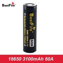 Bestfire Rechargeable Battery 18650 Li-ion 3100mAh 60A Vape Box Mod E Cigarette 18650 Battery Eleaf iStick Pico Kit A121