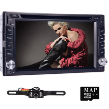 For Nissan 100% New universal Car Radio Double 2 din Car DVD Player GPS Navigation In dash Car DVR Stereo video+Free Map Camera