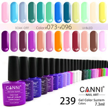 #30917 2017 CANNI brand new 239 color high quality product soak off odorless organic uv gel nail polish varnish gel lacquer(China)