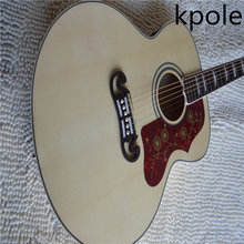 Factory custom shop Kpole New 43 inches jumbo acoustic guitar j200 model natural color Guitar with Fishman Pickups with case