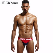 Buy JOCKMAIL Brand 4PCS Sexy Men Underwear WJ U Convex Jock Straps Patchwork Cotton G Strings Thong Men Jockstrap gay Underwear