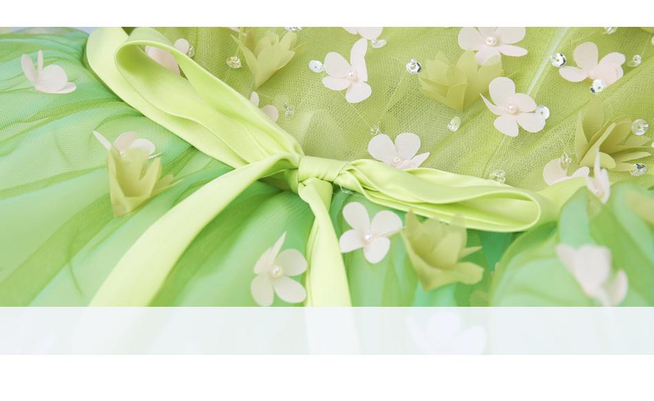 Angel Wedding Dress Marriage Bride Bridal Gown Vestido De Noiva 2017Soft powder, Qingjian Lvxian beauty, petals, green 9718 8