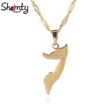 Shamty Somalia Necklace Pendant For Women Men African Jewelry Fashion Gold Color High Quality Item D30090(China)