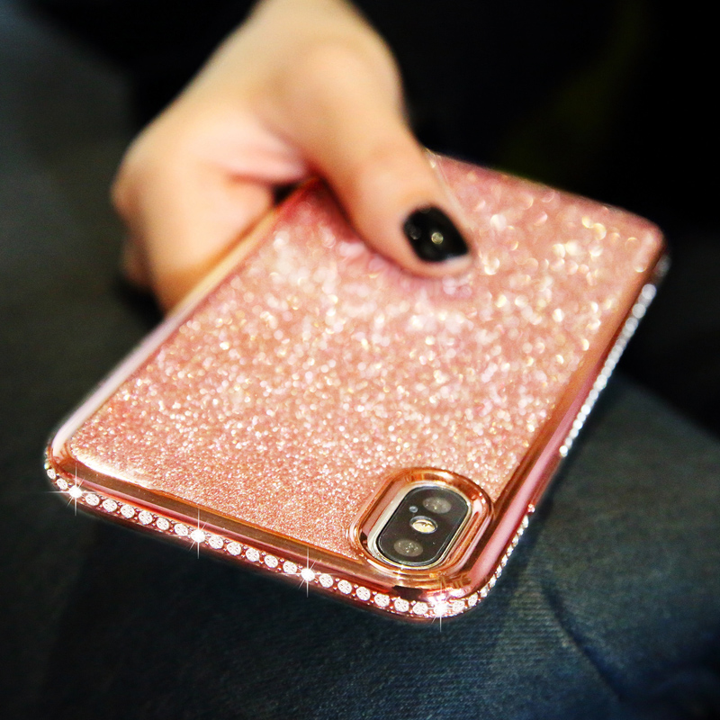 Rhinestone Glitter Case for Apple iphone XS MAX XR 10 X 7 8 Plus 6 S 6s Soft Silicone TPU Diamond Sexy Girl Protector Back Cover (10)