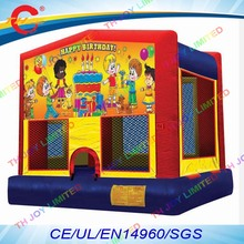 free air shipping to door,4*4m happy birthday inflatable bounce house,inflatable jumper air bouncer trampoline