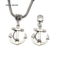 15pcs Tibetan Silver Ferry Anchor Charm Pendant Jewelry Findings DIY Anchor Dangle Charms For European Bracelets 34X20mm S8196