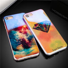 Cool effect Blu-ray styles mobile Phone Cases For iPhone 7 7Plus 8 8Plus Diamond night sky flower pattern Soft TPU Luxury cover(China)