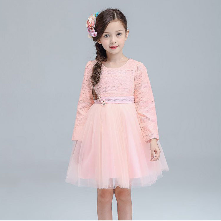 2016 Autumn Long Sleeve Dress Girl Princess The Wind Child  Middle and small children (2-14 years old) Ball Gown. TS15.32.<br>