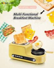 Latest Multi-Functional breakfast sandwich maker toast maker 2 slice electric bread toaster egg boil steamed and fried