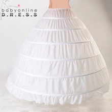 Lace Edge 6 Hoop Petticoat Underskirt For Ball Gown Wedding Dress 110cm Diameter Underwear Crinoline Wedding Accessories