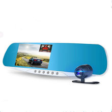 car dvr mirror rearview camera video recorder Dual car camera full hd 1080p 4.3 inch vehicle dvr car black box