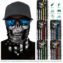 Multifunctional Tube Face Shield USA Flag Bandana Skull Scarf UPF High Quality Tube Skull Face Mask Shield Seamless Bandanas