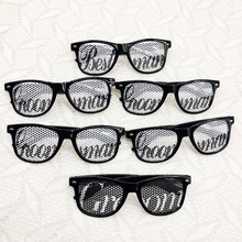 Wedding Groom Party Wedding Sunglasses for Bachelor Parties Receptions Pictures Photo Booths (1x Groom, 1x Best,4xgroomsman)
