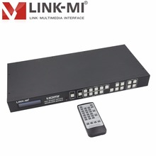 LINK-MI H944F HDMI VGA AV mixed inputs 2x2 Video Processing Matrix switcher 4x4 Smart EDID HDMI Splicing Processor IR,RS-232,TCP