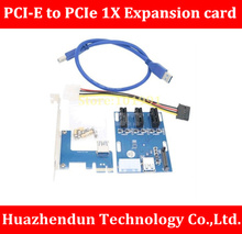 New Product 1 Port PCI-E 1X To 3 Slot 1X Switch Multiplier Expander HUB Expansion Riser Card(China)