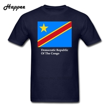 Customized Democratic Republic Of The Congo Flag Shirts Men 100% Cotton Plus Size T Shirts Men's T-Shirts Short Sleeve XS-3XL