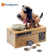 LumiParty Robotic Dog Banco Canino Money Bank Money Box Automatic Stole Coin Piggy Bank Money Saving Box Moneybox Gifts for kids