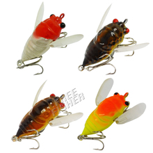 Free Fisher 4 pc/set Fishing Hard Lures Set Crankbaits Locust Insects Baits