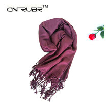 New Fashion 2016 Women Scarf Vintage Ladies Solid Color Black Red White Scarves Warp Shawl Female High Quality Fringed Scarves