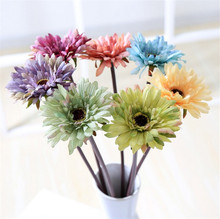 Custom Goods 7 Plastic Flower Chrysanthemum Christmas Decoration Flowers Decorate Party
