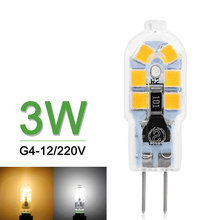 Mini LED G4 Bulb High Bright G4 LED Lamp 3W AC/DC 12V AC 220V/240V G4 LED Light SMD 2835 Lampadas Replace Halogen Chandelier(China)