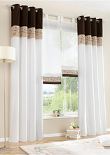 Bamboo Fabric Embroidered Patchwork Curtain Stitching Colors High Quality Modern striped Curtain