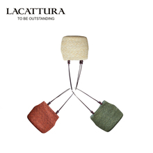 LACATTURA Vintage Women Handbag Fashion Shopping Tote Beach Bag Fresh Casual Bucket Straw Tote Bag Summer Shoulder Bag