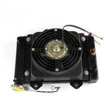 150cc 200cc 250cc Water cooling engine cooler Radiator cooling & 12v FAN FOR moto Quad 4x4 ATV UTV parts