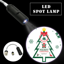 Merry Christmas Projector light 110V/220V E27 Hotel Logo Advertising Bulb Lamps Spotlight Replaceable Films Xmas Home Decoration(China)