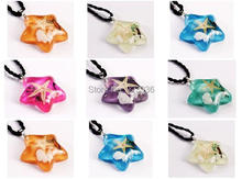 FREE SHIPPING wholesale 21 pcs mix five design cool colorful five star christmas popular pendant(China)
